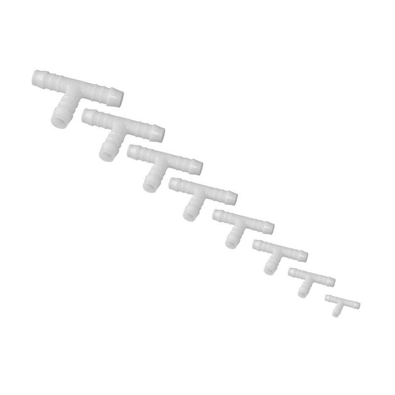 T-Schlauchverbinder 3 Wege Kupfer Schlauch Schlauchtülle 8mm Durchmesser 3stk