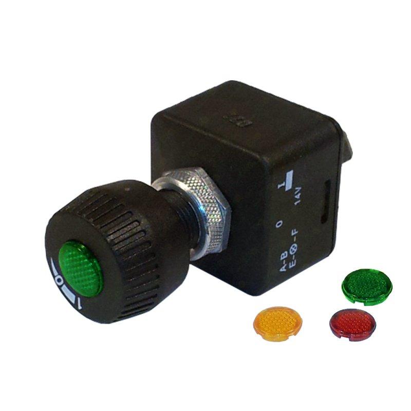 kfz drehschalter mit farbiger beleuchtung 12 volt 15 ampere 11 95. Black Bedroom Furniture Sets. Home Design Ideas